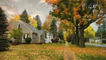 fall home in neighborhood tom rostron