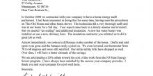 A letter from Richard F. Schmidt detailing the improvements an energy audit with Tom Rostron brought him