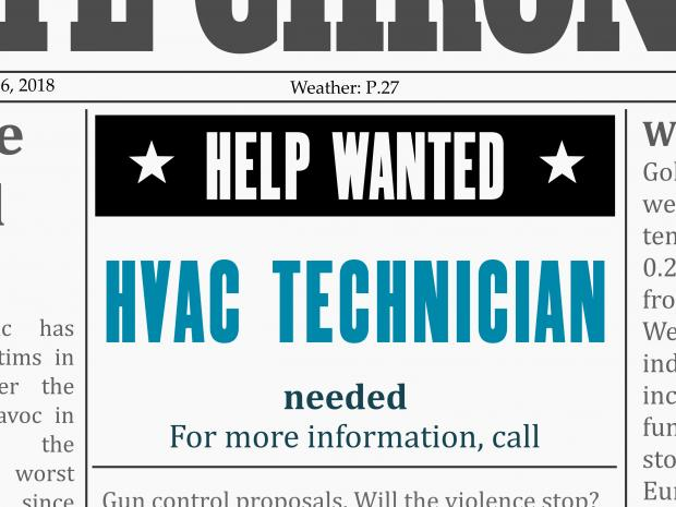 hvac installer ad for tom rostron in wall, nj